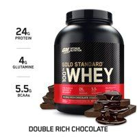 Optimum Nutrition Gold Standard Whey Protein Powder, Double Rich Chocolate, 5 Pound (Packaging May Vary) - Gift Options Showcase Gold Standard Whey Protein, 100 Whey Protein, Protein Isolate, High Protein, Cheap Protein, Whey Isolate, Natural Protein, Vegan Protein, Protein Shakes