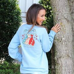 Fraternity Collection Liberty Belle Long Sleeve T-Shirt   Lakeside Cotton