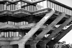 Geisel Library • La Jolla • California • William L. Pereira & Associates • 1970 La Jolla California, Brickwork, Arch, Tower, Stairs, Exterior, Organic, Building, Ideas