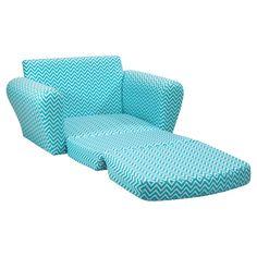 Kidz World Cosmo Blue Sleepover Sofa - Kids Upholstered Sofas at Hayneedle