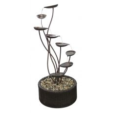 "ALPINE 45"" METAL TIERING LEAF FOUNTAIN"
