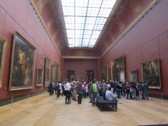 Can be a bit crowded inside Louvre