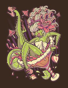 Margarita by Jehsee Zombie Monster Girl Glass Horror Canvas Art Print