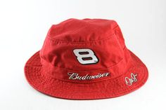 Chase Authentics NASCAR Budweiser Dale Earnhardt Jr  8 Bucket Hat    Red  Fisherman Style Cap    Roll Up Gilligan Hat 0e556356407c