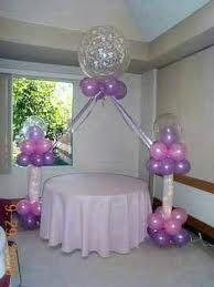 Resultado de imagen para decoracion de globos bautizo