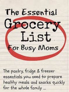 Essential Grocery List Printable Shopping List, Shopping List Grocery, Grocery Items, Get Healthy, Healthy Meals, Healthy Food, Delicious Meals, Raw Food, Food Food