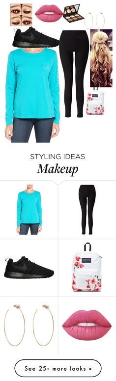 """""""chill outfit"""" by missymgs on Polyvore featuring Vineyard Vines, NIKE, Miss Selfridge, Lime Crime, Elizabeth Mott, Diane Kordas and JanSport"""
