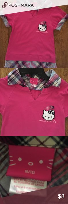 Girl's Hello Kitty Top NWOT little girl's size 8/10 Hello Kitty Top from smoke and pet free home, thanks for viewing and have a great day/night!😊 Hello Kitty Shirts & Tops Blouses