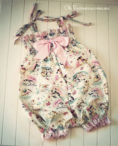 Vintage Baby Kitten Playsuit Romper Girls by OhVeronicaGirl, $39.00