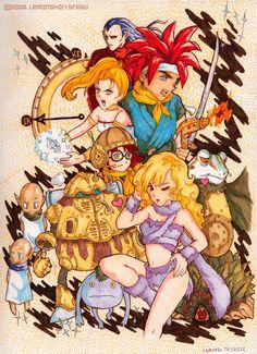 Chrono Trigger by yuzukko on DeviantArt Chrono Cross, Chrono Trigger, Video Game Art, Great Videos, Videogames, Deadpool, Nintendo, Fandom, Fan Art