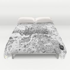 LONDON MAP Duvet Cover by Maps Factory - $99.00