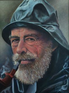 "Old Sailor | Old Sailor Oil Painting"" Posters by JamieTifft 
