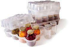 avec couvercle pour le stockage Rack cuisine racks grenades 4 x verre Spice Herb Pots