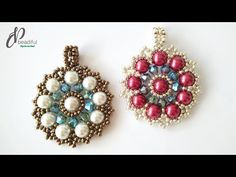 Quick and Easy to Make Beaded Pearl Pendant ☀💖 Beaded Earrings Patterns, Beaded Brooch, Jewelry Making Tutorials, Beading Tutorials, Diy Jewelry Inspiration, Bead Jewellery, Beads And Wire, Pearl Pendant, How To Make Beads