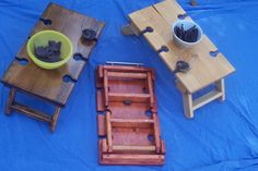 Portable wine tables by LeBlancWoodCreations on Etsy