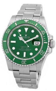 #Rolex #Submariner Anniversary Edition Stainless Steel, Ceramic Green Bezel Ref. 116610V  http://www.crownandcaliber.com/watches/rolex/submariner/