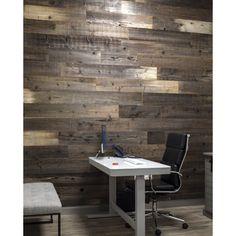 "Poppa's Barn 52"" x 4.87"" Reclaimed Solid Wood Wall Paneling | Wayfair Grey Wood, Brown Wood, White Wood, Vinyl Wall Panels, Wood Panel Walls, Wood Planks, Wood Paneling, Rough Wood, Wallpaper Panels"