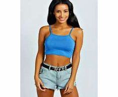 boohoo Cally Spaghetti Strap Super Crop Top - Make your top a talking point with textures - think brocades, quilting and fluffy-feel. Jersey kinda gal? Shake it up with shapes. Crop tops get cutting edge in boxy, boyfriend fit shapes and shell to http://www.comparestoreprices.co.uk/womens-clothes/boohoo-cally-spaghetti-strap-super-crop-top-.asp