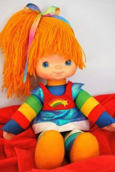 Rainbow Bright! My FAV childhood doll! I need to find one for my daughter Zoe who loves rainbows:)