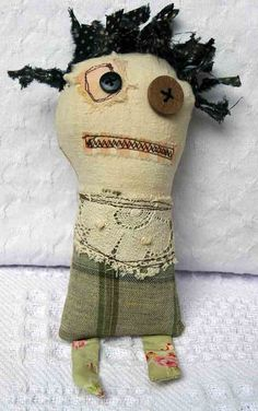 Cloth Monster Art Doll SNOOKER by WeeArtThings on Etsy, £14.00