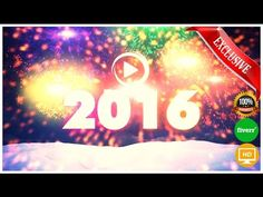Awesome New Year Countdown 2016/christmas/holidays/Templates Based animated videos - YouTube