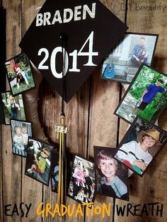 Graduation Party Ideas for High School . Graduation day is such a special day so if you want to make an awesome keepsake gift or create some amazing party Graduation Open Houses, 8th Grade Graduation, College Graduation Parties, Graduation Celebration, Graduation Decorations, Graduation Party Decor, Grad Parties, Graduation Gifts, Graduation Ideas
