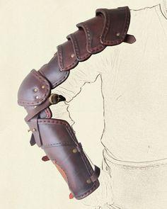 Segmented arm armour – copper gaul etch
