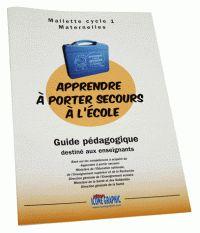 """Icone Graphic - Guide pédagogique """"Apprendre à porter secours à l'école"""" Maternelle/Cycle 1. https://hip.univ-orleans.fr/ipac20/ipac.jsp?session=CF7853189Y914.1878&profile=scd&source=~!la_source&view=subscriptionsummary&uri=full=3100001~!407158~!2&ri=1&aspect=subtab48&menu=search&ipp=25&spp=20&staffonly=&term=Guide+p%C3%A9dagogique+%22Apprendre+%C3%A0+porter+secours+%C3%A0+l%27%C3%A9cole%22&index=.GK&uindex=&aspect=subtab48&menu=search&ri=1"""