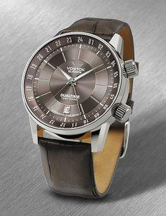 Vostok Europe Gaz-14 Limousine Dualtime Silver/Brown Watch 2426/5601058