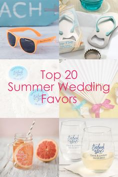 Planning a summer wedding? Find the perfect summer wedding favors all in one place!