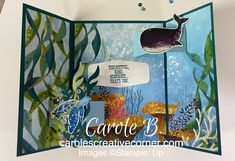 Fancy Fold Cards, Folded Cards, Flip Cards, Kind And Generous, Nautical Cards, 3d Craft, Wale, Stamping Up Cards, Animal Cards