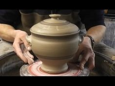 ▶ Throwing / Making a Lidded Pottery Soup Tureen / Terrine on the Wheel - YouTube