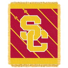 USC College Baby 36x46 Triple Woven Jacquard Throw - Fullback Series