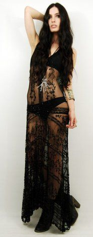Black sheer dress very hot x