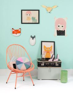 Ashley Goldberg In it Together , Diana and Anna Kövecses cat yellow, pillows by Luckyboysunday