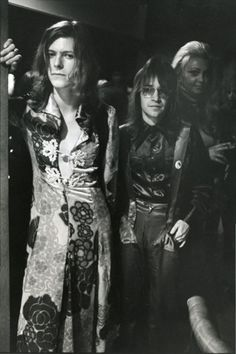 David Bowie and Rodney Bingenheimer 70s.