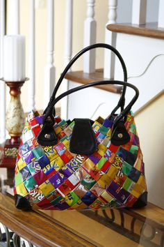 Candy Wrapper Purse - #Upcycle This! 13 Ways to Reuse Candy Wrappers #crafts