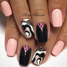 Beauty from How do you like it? Rate on a scale from 1 to 10 ————————————– # nail # shellac # idemanicure # manicure # design nail # trends # trendnails # gellak # gellak # nail day # nails 2016 # nailstrends. Shellac Nails, Manicure And Pedicure, Spring Nails, Summer Nails, Cute Nails, Pretty Nails, Water Marble Nails, Nails 2016, Nail Trends