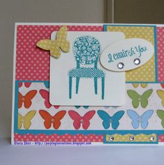 Charish card I created with CTMH Art Philosophy Cricut Cartridge and Dotty For You paper.  I love this cartridge and this paper.  It is so much fun playing with it.