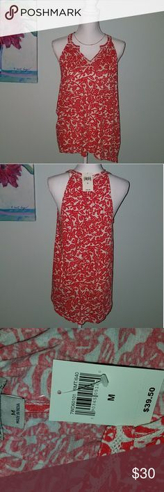 Lucky Brand Red Tank Top Size M NWT Lucky Brand Red Tank Top Size M NWT 48r86o4o16 Lucky Brand  Tops Tank Tops