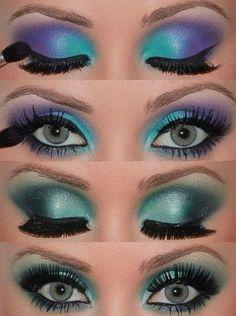 Intense blue!! #makeup #inspiration