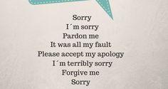Otras maneras de pedir perdón || Eingleses