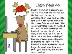 Christmas themed subtraction with and without regrouping - 6 centers, 4 math tasks, and more!