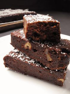 brownie-sin-harina-sin-gluten-boniato Wine Recipes, My Recipes, Real Food Recipes, Danish Food, Gluten Free Cakes, Healthy Sweets, Healthy Food, Sweet Desserts, No Bake Cake