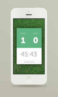 Full-view - Clean-Flat Score board UI
