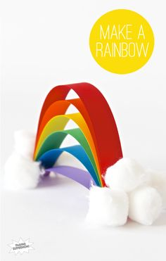 Easiest Little Rainbow Craft for Kids via @PagingSupermom