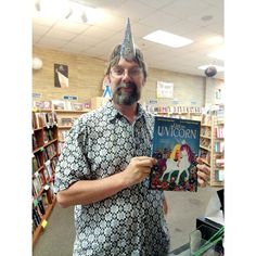Rediscovered Books owner Bruce Delaney believes in the power of unicorns. Do you?