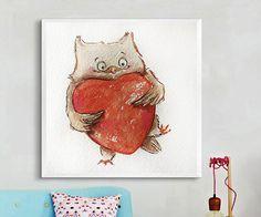 Woodland Animals, Nursery Decor, Baby Shower Gift, Custom Name, Forest Animals , Owl painting, Nursery Art, New Baby Gift,First Anniversary.