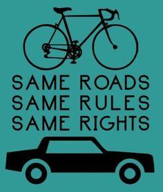 same rights, #cycling