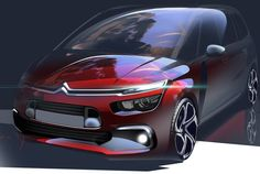 2016 | Citroën C4 Picasso | Render by Romain Gauvin (Citroen Design Team)